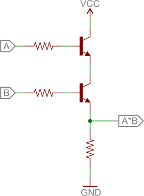 BJT AND circuit