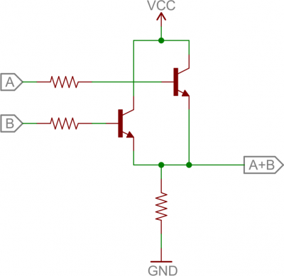 BJT OR circuit