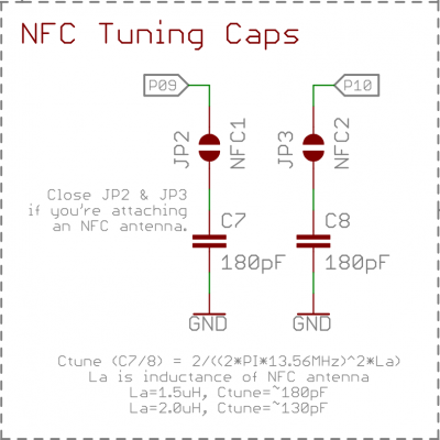 NFC tuning caps from schematic