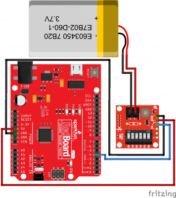 RedBoard w/out Protection Diode and Pull-Down Resistor