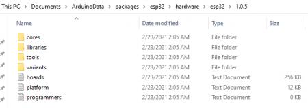hardware folder contents