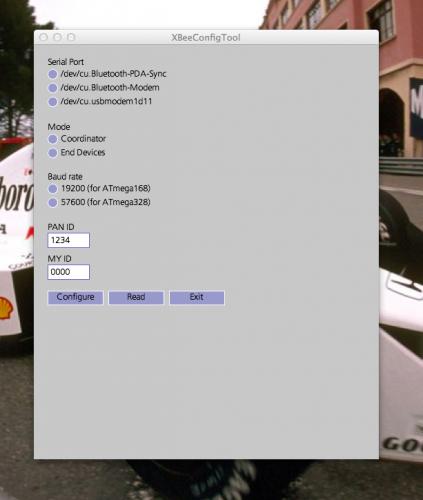 XBeeConfigTool Screen Shot