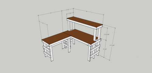 Sketchup of electronics workbench