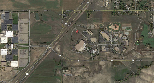 Satellite view of new SparkFun location