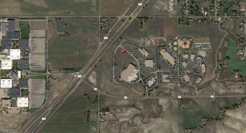 Satellite view of new SparkFun location