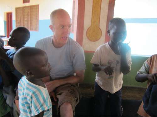 Hanging out out with some kids from the orphanage