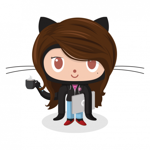 The Femalecodertocat - one of the handful of female Octocats in the Octodex