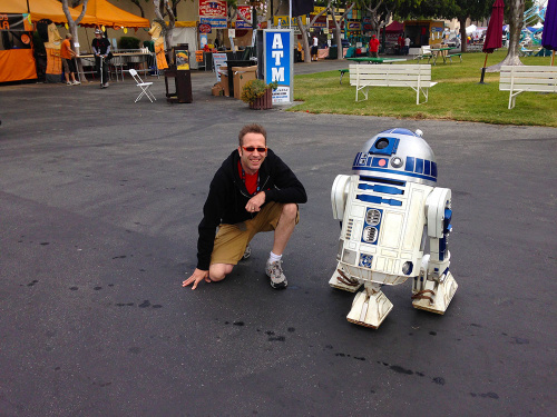 Jeff geeks out on R2-D2