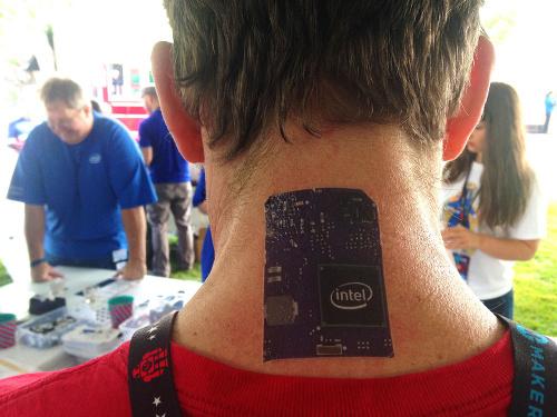 Jeff's Intel tattoo