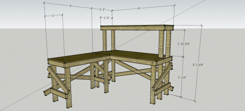 SketchUp of desk