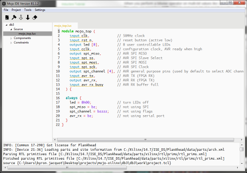 Mojo IDE Screenshot