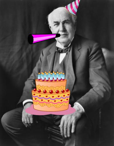 Happy birthday, Edison