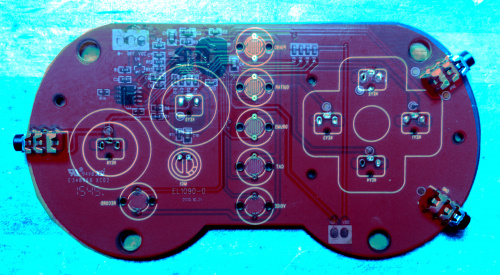 color-shifted and superimposed PCB pictures