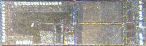closeup of chip labeled U1