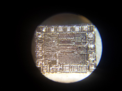 closeup of chip labeled U2