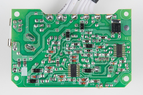 Back side of the heated blanket PCB