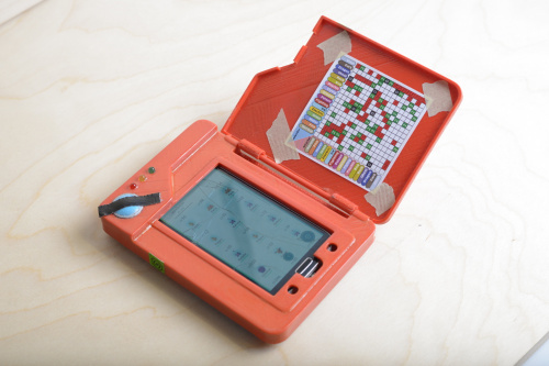 Photo of the customized pokedex showing inside cover