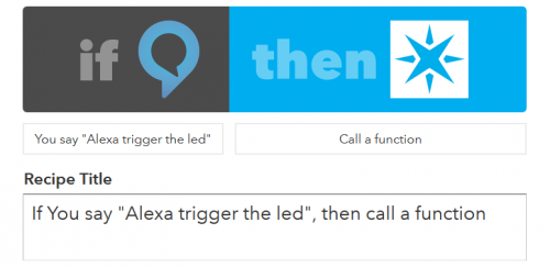 Example Alexa IFTTT recipe