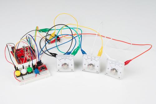 Wiring up the analog meter clock
