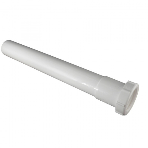a picture of a plastic slip-joint extension for a sink