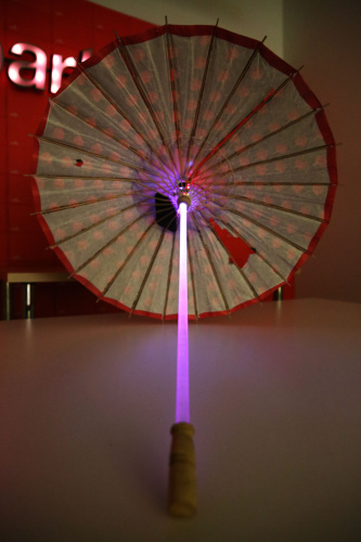 photo of the completed parasol project