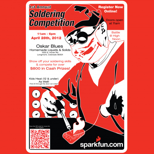 SparkFun Solder contest Poster