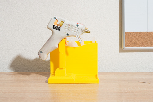 3D printed glue gun caddy