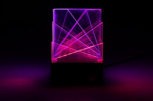 light sculpture pink