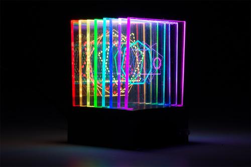 light sculpture 3/4 view