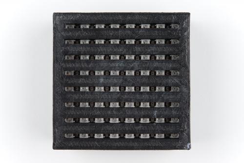 light sculpture neopixel rows