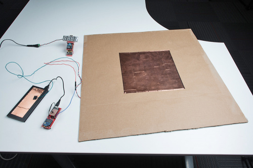 Prototype Capacitive Touch Dance Floor with Teensy and Wireless XBees Set for Line Passing