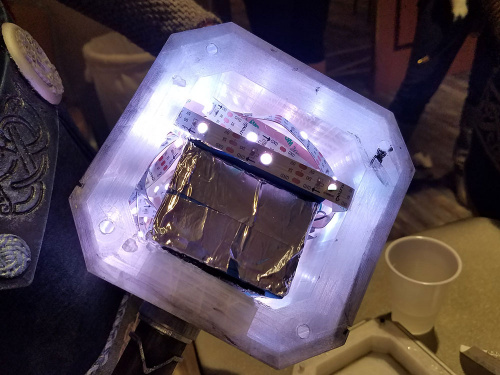 LED strips shown inside the Thor's Hammer prop