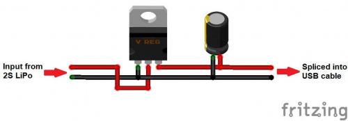 Fritzing diagram of regulator circuit.