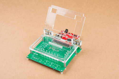 example testbed using flying jalapeno and acrylic waffle top design