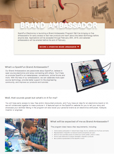 A First-Hand Look at the Brand Ambassador Page