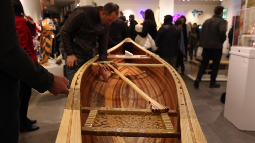 Canoe at Makerspace Exhibit Night