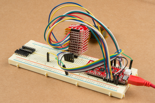Breadboard view of the Super Speedy SPI Bus
