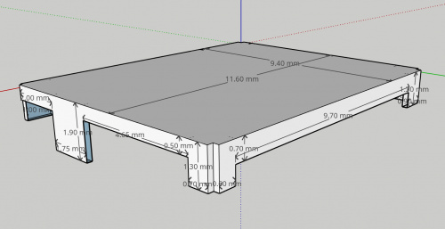 Original RF shield in Sketchup