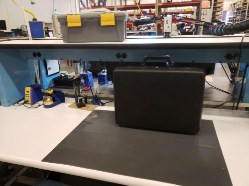Briefcase on Benchtop
