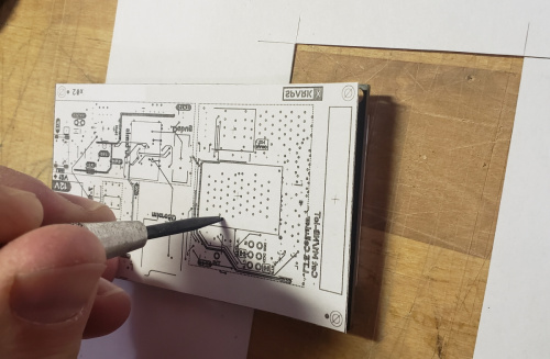 1:1 scale drawing on PCB