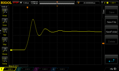 Oscilloscope trace of VUSB