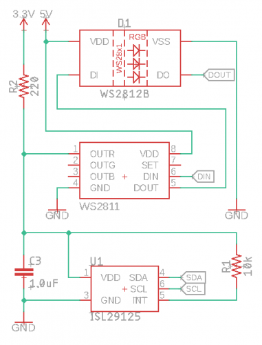 circuit schematic in Eagle PCB