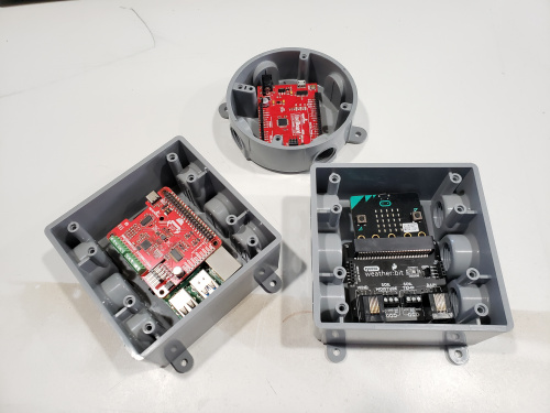 Micro-controllers in plastic conduit boxes