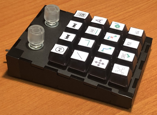 Profile view of the keyboard