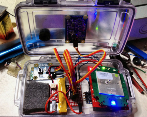SPLOT electronics in case