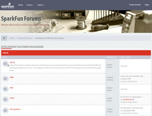 The SparkFun Forums