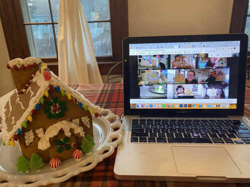 Safely Building Gingerbread Houses in Quarantine