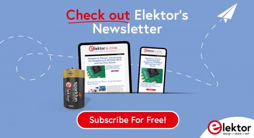 Screenshot of Elektor's newsletter