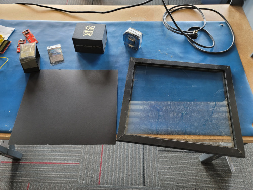 Mat cut for the frame