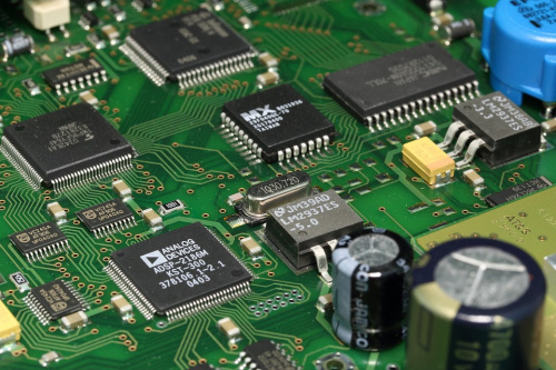 Example of a custom PCB with multiple components